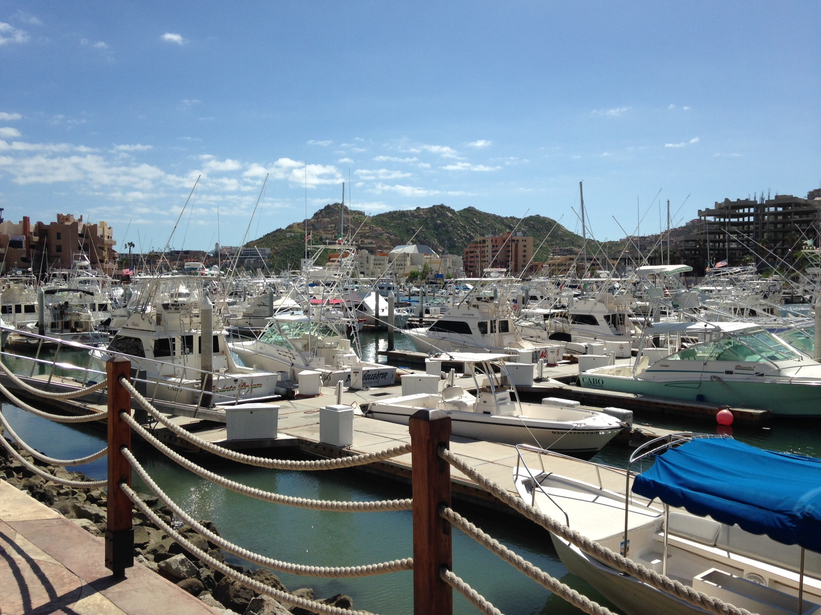 Cabo marina after the clean-up