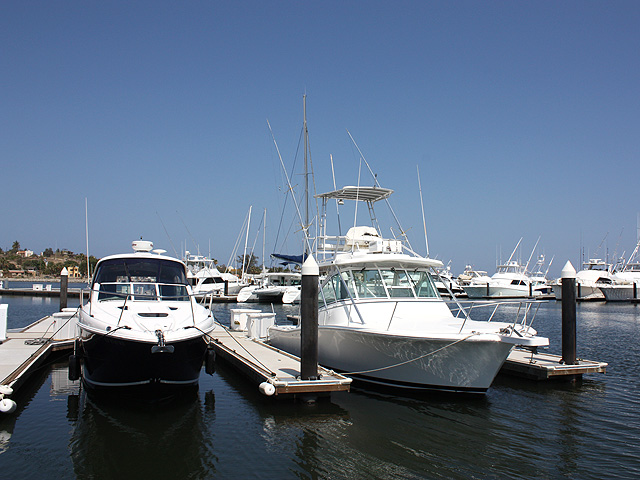 Fishing boats on the marina