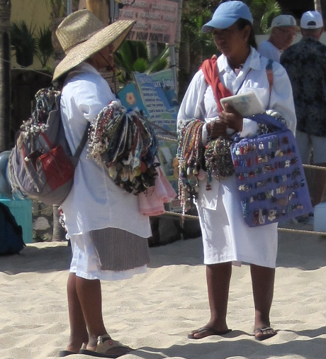 Beach Peddlers in Cabo San Lucas